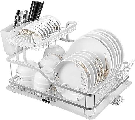 Storage Of Kitchen Utensils Room Aluminium Kitchen Shelves Draining Board Kitchen Supplies Draining Tray Cupboard Shelf Storage Rack Easy To Install Storage Compartment Amazon De Home Kitchen