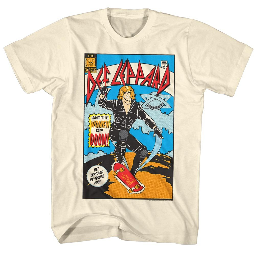 Def Leppard X-Large Natural - T-shirt Comic Homme