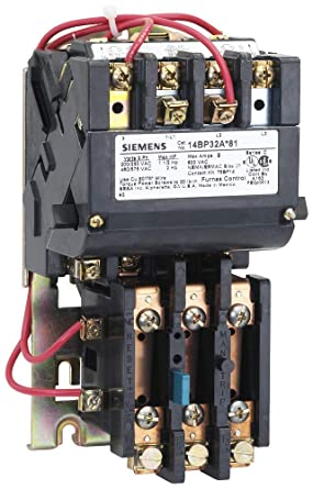 24 Separate Control at 60Hz Coil Voltage NEMA 1 General Purpose Extra Wide Enclosure 3 Phase Manual//Auto Reset 60A Contactor Amp Rating Ambient Compensated Bimetal Overload Siemens 14GP82BJ81 Heavy Duty Motor Starter 2 12 Half Size 3 Pole