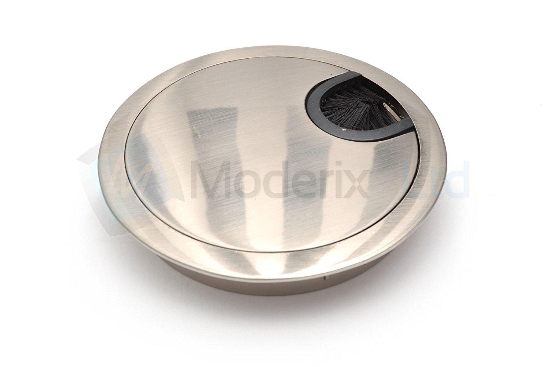 Passe cable passe fil Métal acier brossé design diamètre 60mm GTV