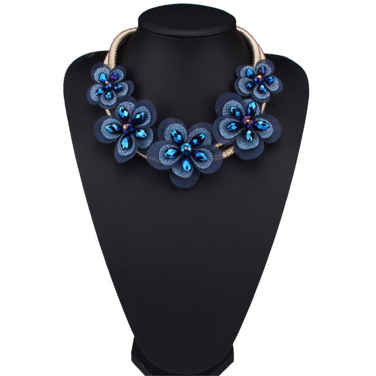 KTYX European and American Flower Necklace Multi-Layer Short Paragraph Wild 87cm Jewelry by KTYX (Image #3)