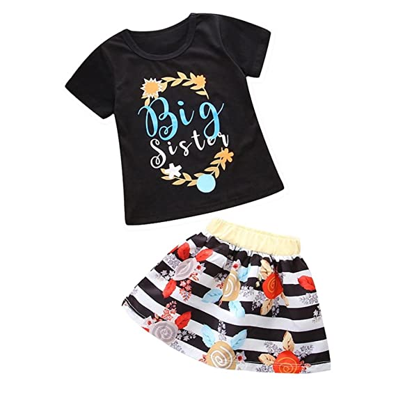 UK Toddler Baby Girl Clothes Sister Matching Romper Bodysuit Dress Cotton Outfit