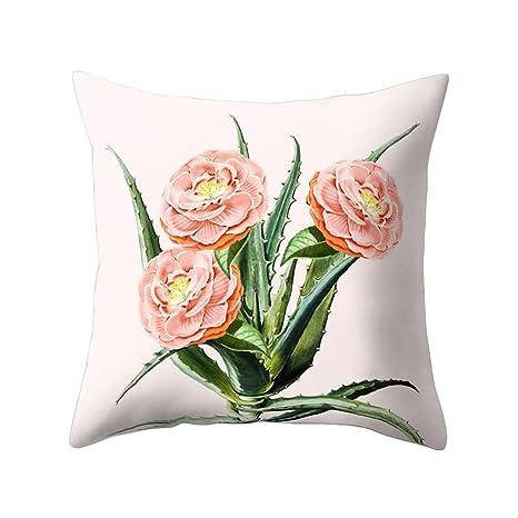 Funda de cojín con diseño impreso de cactus para decorar el sofá o la cama, 3#, 17.72