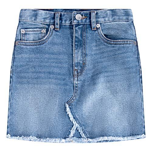 (Levi's Girls' Big High Rise Denim Skirt, Hoboken 10)