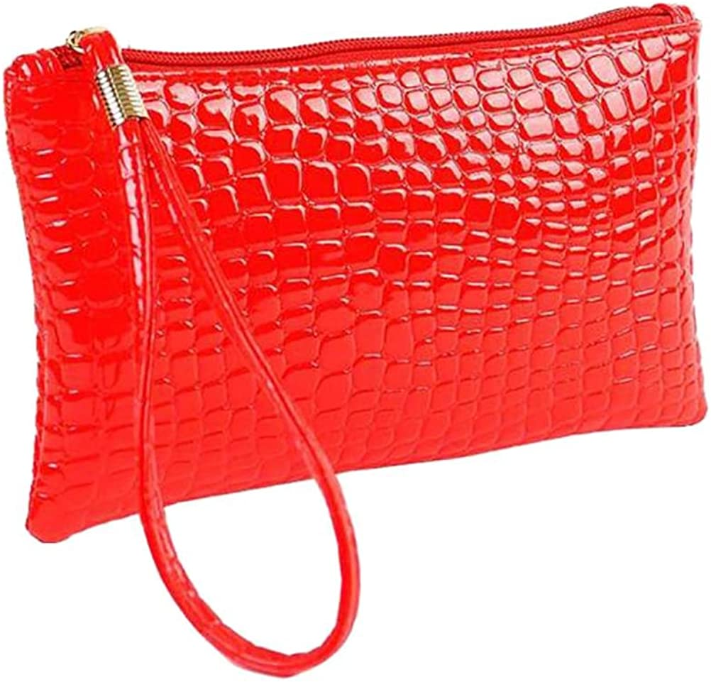 Fashionable Leather Casual Large Capacity Tote Bags Yikuo Handbags-Crocodile Pattern Women Bags Crossbody Bags//Shoulder Bags,14cm26cm 33cm Boutique Color : Red