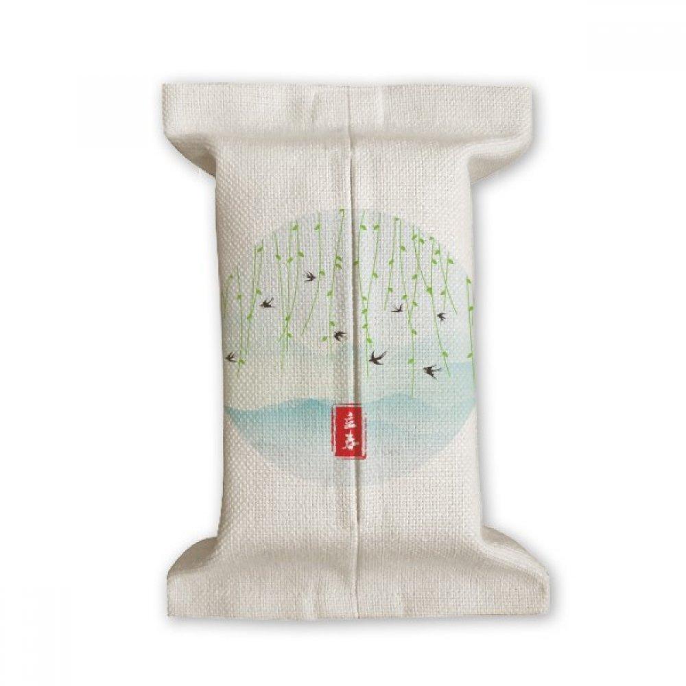 DIYthinker Spring Begins Twenty Four Solar Term Tissue Paper Cover Cotton Linen Holder Storage Container Gift