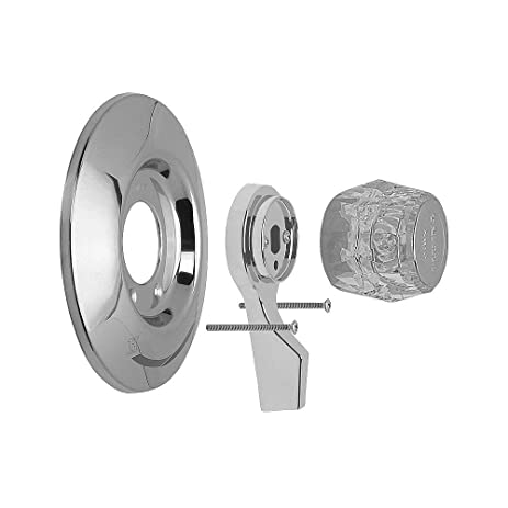 Deluxe Pressure Balance Valve Trim Kit by Mixet - in Chrome/Acrylic ...