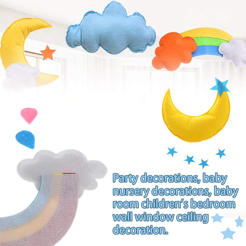 Soffitto Mobile Nuvola Luna Arcobaleno Decorazioni Baby Room Decor Camera dei bambini Decorazione Cloud Stars Wall Hanging Decoration Nursery Decoration