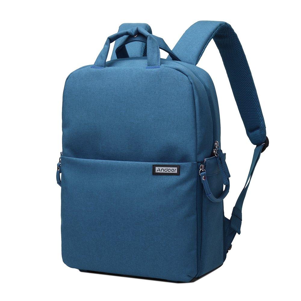 Andoer sac à dos etanche antichoc Caméra DSLR Photographie vidéo Backpack Leisure pour Nikon Canon Pentax Sony Caméra w / Couverture de Pluie