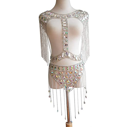 Collar de cadena del cuerpo de las mujeres Cadena de la cintura ...