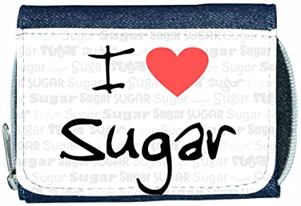 Amazon.com: I Love Heart Sugar Denim Wallet: TeeTreeDesigns ...