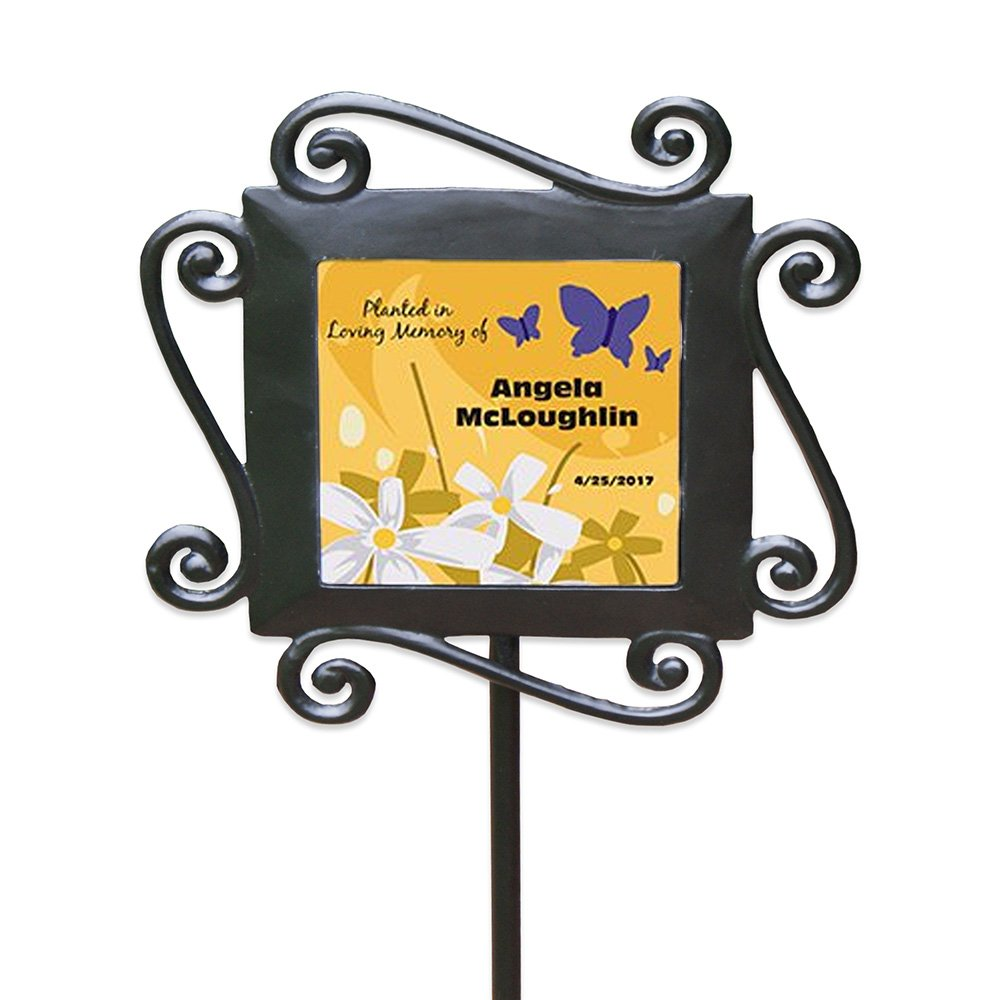 GiftsForYouNow in Loving Memory Personalized Garden Stake