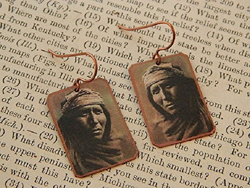 Native American Earrings Apache man