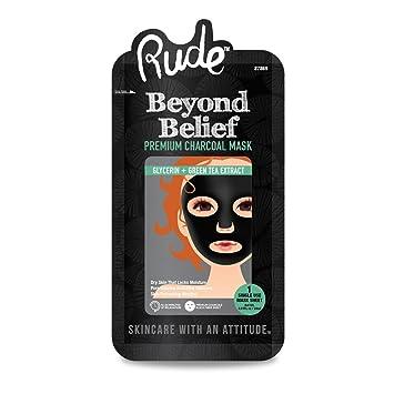 RUDE Beyond Belief Purifying Charcoal Face Mask Noxzema Original Deep Cleansing Cream 12 oz (Pack of 2)