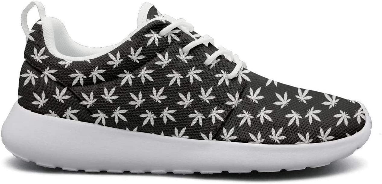 Eoyles gy Cannabis Leaf Woman Slip Resistant Lightweight Running Sports Shoes