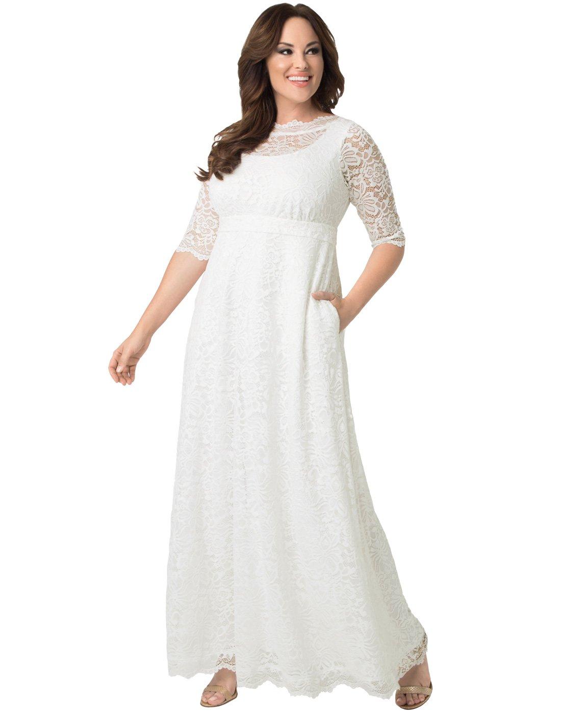 Kiyonna Women's Plus Size Sweet Serenity Wedding Gown 1X Ivory