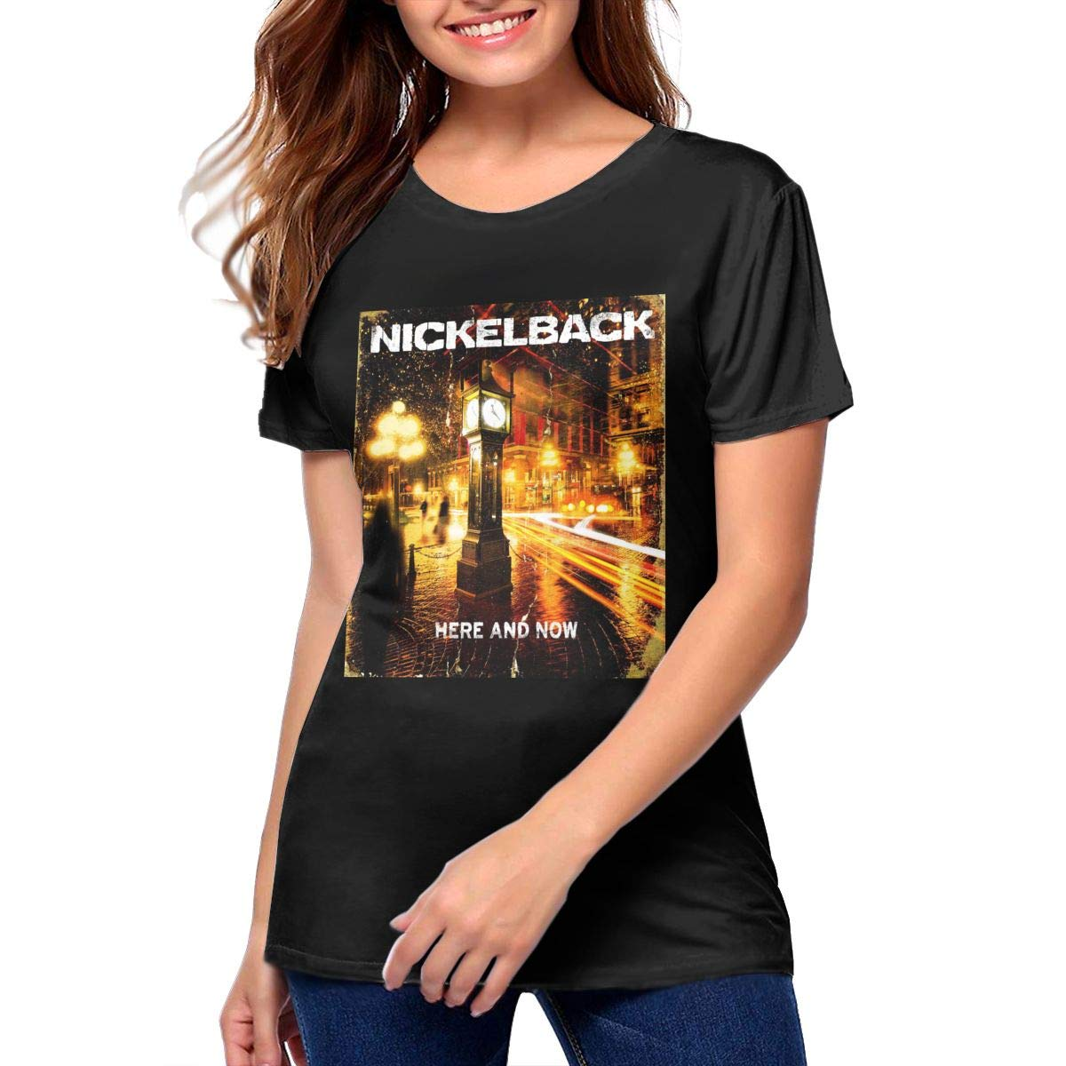 Nickelback Woman Loose Short Sleeve T Shirt