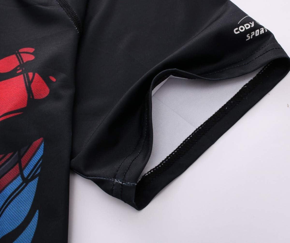 Nuevo Hombre Capa Base Compresión Ajustados Camisa Media Manga Camiseta Ciclismo
