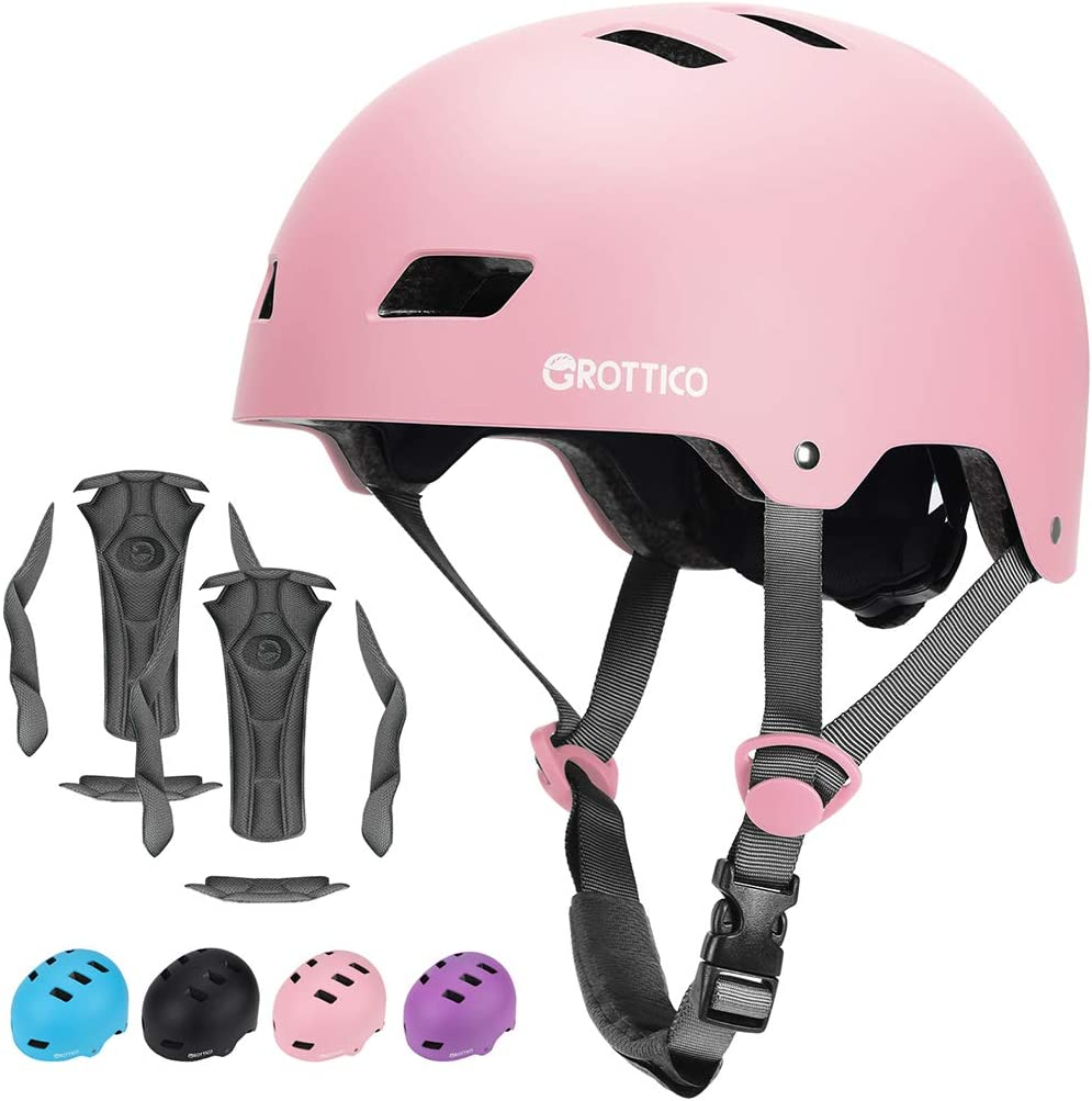 GROTTICO Toddler-Kids-Youth Helmet Skateboard-Bike-Scooter-Skate Adjustable - for 2-14 Years Old CPSC & ASTM Certified Safety with Replacement Liner