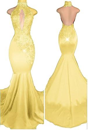 Prom dresses yellow 2018