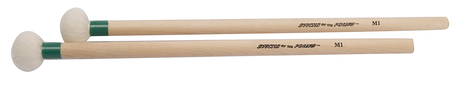 Sticks by the Pound STP-M1 Percussion-Felt Head All-Purpose Percussion Mallets Pair