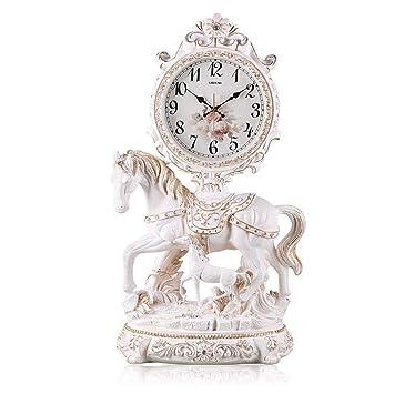 Relojes de mesa Reloj de Escritorio Reloj de Cuarzo Salón Dormitorio Retro Decoración de Escritorio Lucky