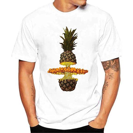 Hombres Impresión Camisetas con Manga Corta Baratas Camisa Manga Corta Blusa Camisetas Hombre Originales Divertidas: Amazon.es: Ropa y accesorios