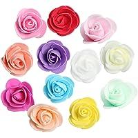 Prettyia 100pcs Cabeza de Flor de Rosa