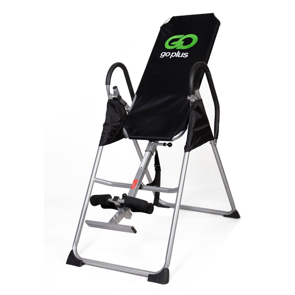 New Inversion Table Deluxe Fitness Chiropractic Table Back Pain Relief Exercise