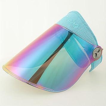 YXINY Viseras Sol Sombrero Soleado Visera Protección UV Ajustable Ángulo  con Tintado Transparente Cubrir Flexible Venda 84d5aac6104