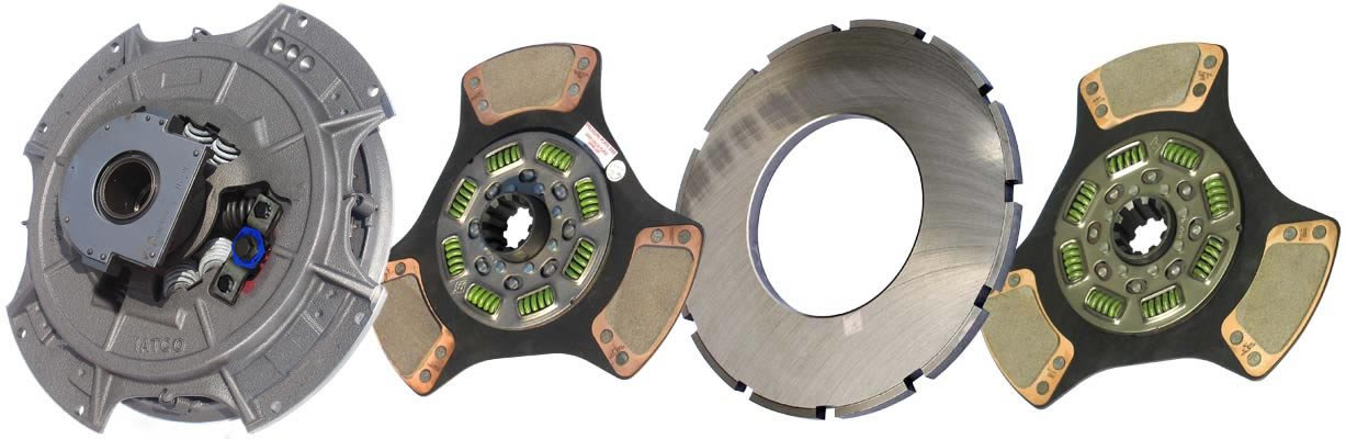 IATCO 108034-61B-IAT 14'' x 2'' Easy Pedal Clutch (Two-Plate, 3-Paddle / 8-Spring, 3200 Plate Load / 1150 Torque)