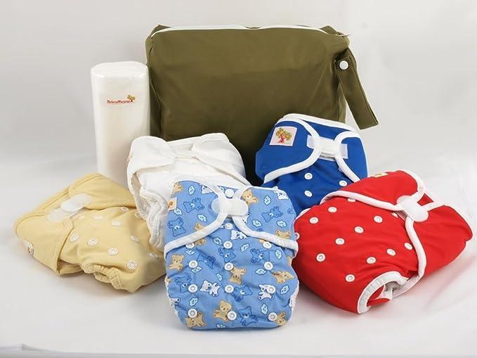 1 opinioni per Kit prova 5 pannolini lavabili NaturalMamma- colori da femmina