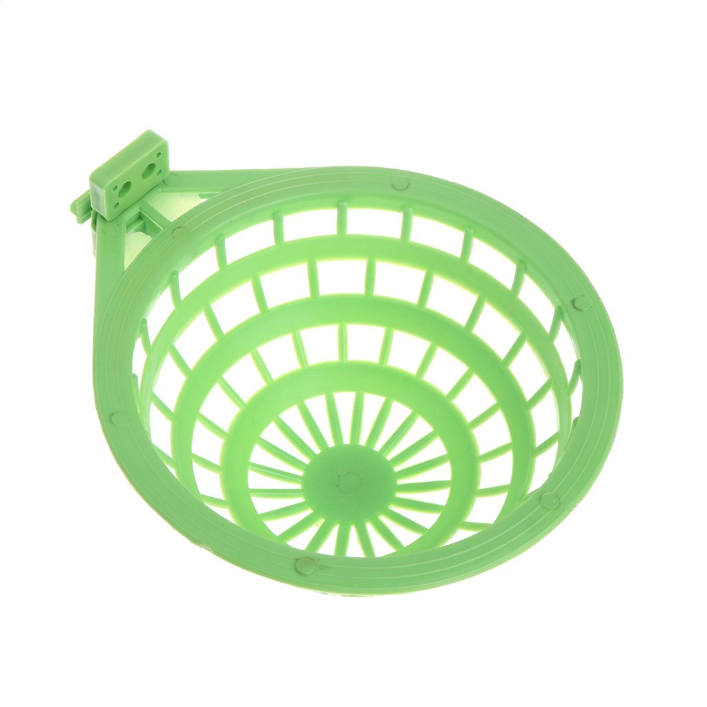 LifePavilion Plastic Green Bird Nest Hollow Hanging Cage Birds Roost Shed Eggs Hatching Tool Egg Basin Nest Bowl for Finch Parrot Canary