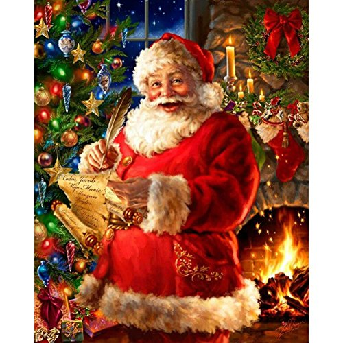 Wall Decor,RNTOP_Home Decor Santa Claus 5D Snowman DIY Diamond Painting Embroidery Cross Craft Stitch Animal Home Decor Art Wall Sticker For Wall (G) -