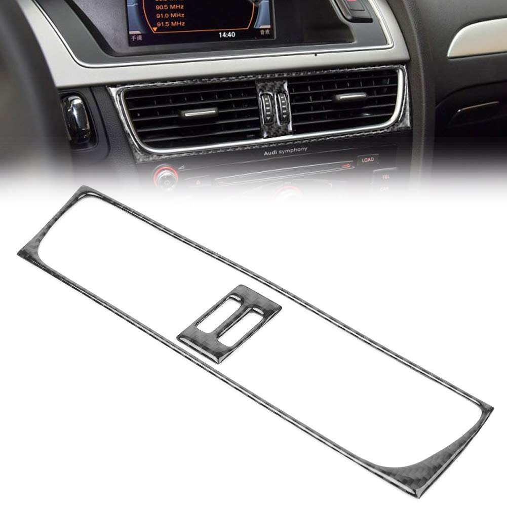 GZYF Real Carbon Fiber GPS Navigator Dashboard Panel Cover Trim Compatible with Audi A4 A5 2009-2016