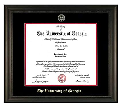 Amazon.com - Athens Art and Frame Embossed UGA Diploma Frame (Black) -