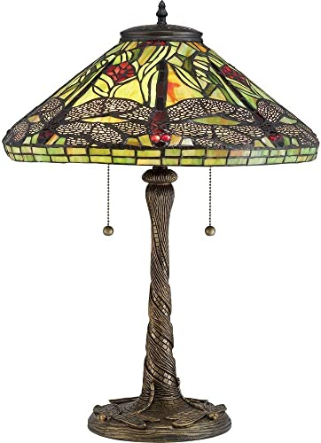 Quoizel TF2598T Jungle Dragonfly Tiffany Table Lamp
