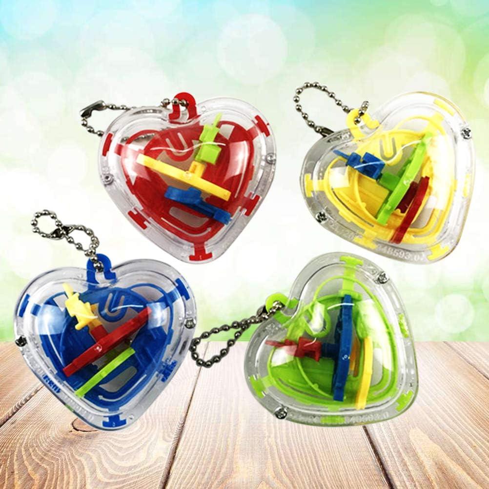 YeahiBaby Mini Juguete Laberinto 3D en Forma del Corazón para Juego de Rompecabezas Mágico de Niños 10pcs (Color Aleatorio): Amazon.es: Juguetes y juegos