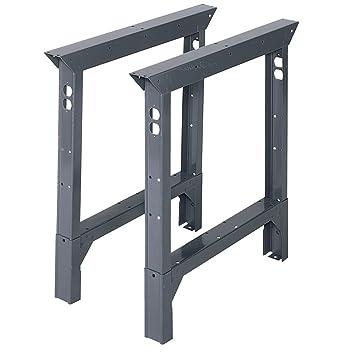 Edsal ABL30 Adjustable Height Industrial Grade Bench Leg, 4000 Lbs  Capacity, 2u0026quot; Width