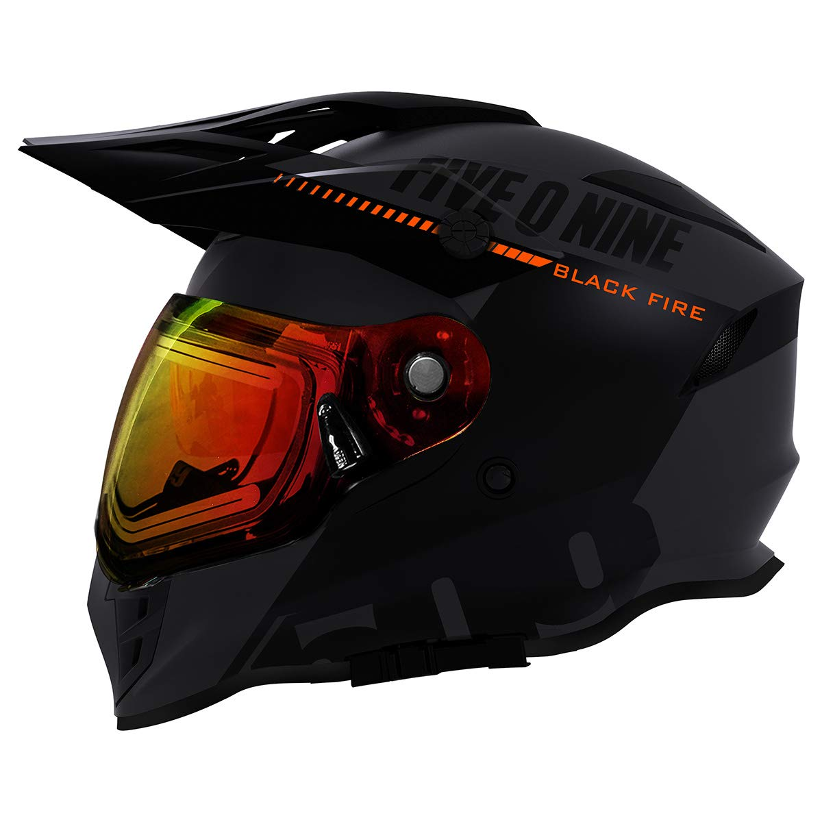 Matte Ops - X-Large 509 Delta R3 Ignite Full Face Snow Helmet with Fidlock