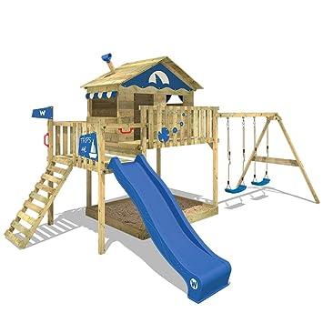 Bekannt WICKEY Spielturm Smart Coast Kletterturm Spielhaus auf Podest mit VB22