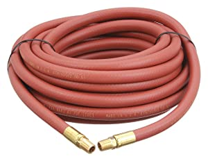 """Reelcraft S601013-50 Low Pressure Air/Water Hose Assembly, 3/8"""" x 50', 300 Psi, 1/4"""" x 1/4 NPTF(M), 0.6 OD, PVC Nylon"""