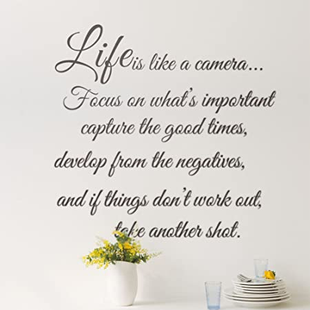 Life Is Like A Camera Focus On Whatu0027s Important, Capture The Good Times,  Develop