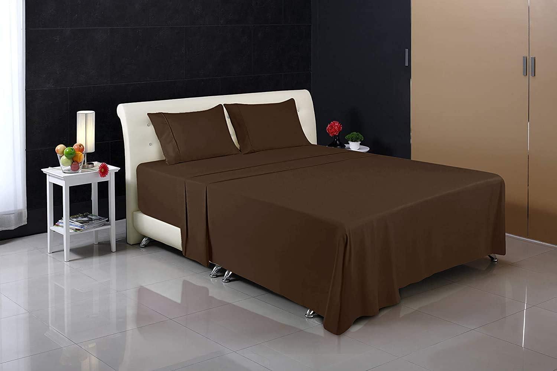 Cama 150, Marr/ón S/ábanas y Fundas de Almohada Microfibra Cepillada Utopia Bedding Juego S/ábanas de Cama