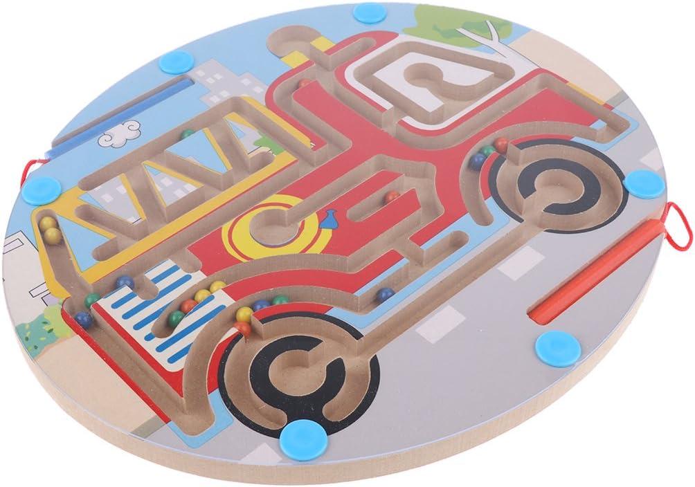 Fenteer Juego de Mesa de Laberinto Magnético Rompecabezas Regalos - Camión de Bomberos: Amazon.es: Juguetes y juegos