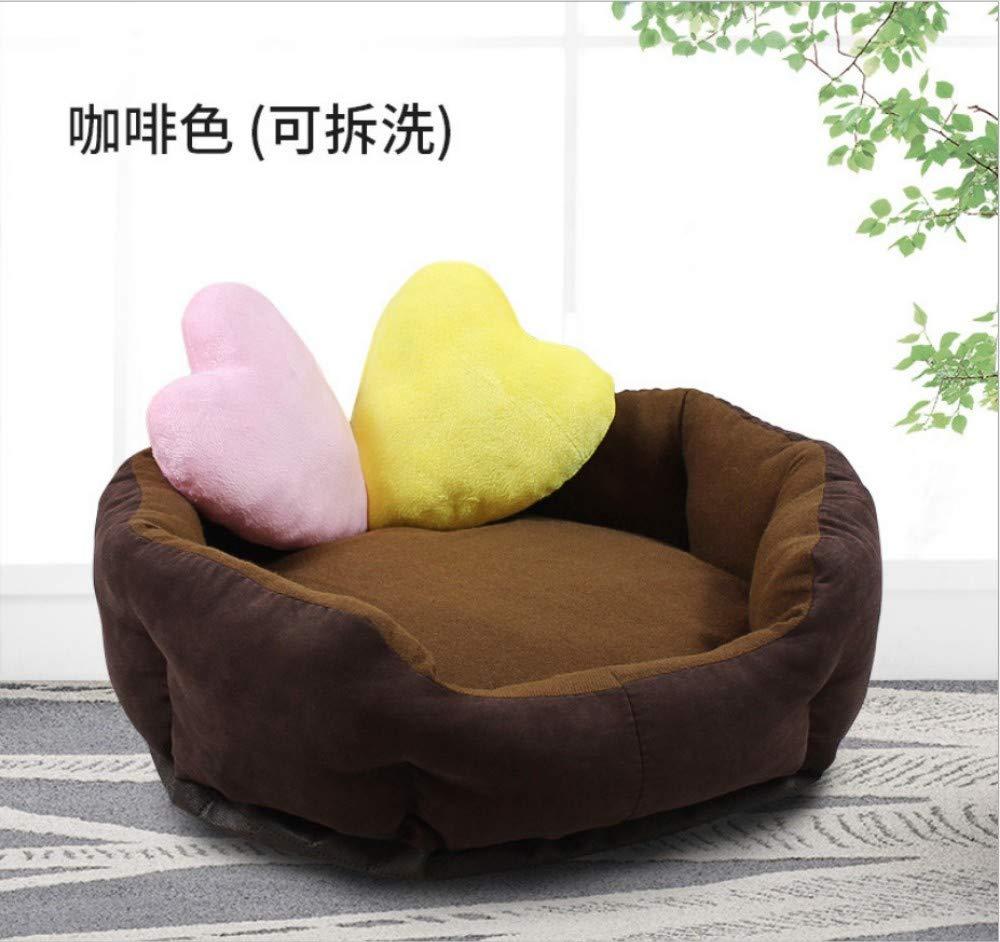 B XL(Inner diameter 55X55cm) B XL(Inner diameter 55X55cm) Dog House Teddy Bear golden Retriever Pet Nest Dog Mattress Cat Nest Pet Dog Supplies