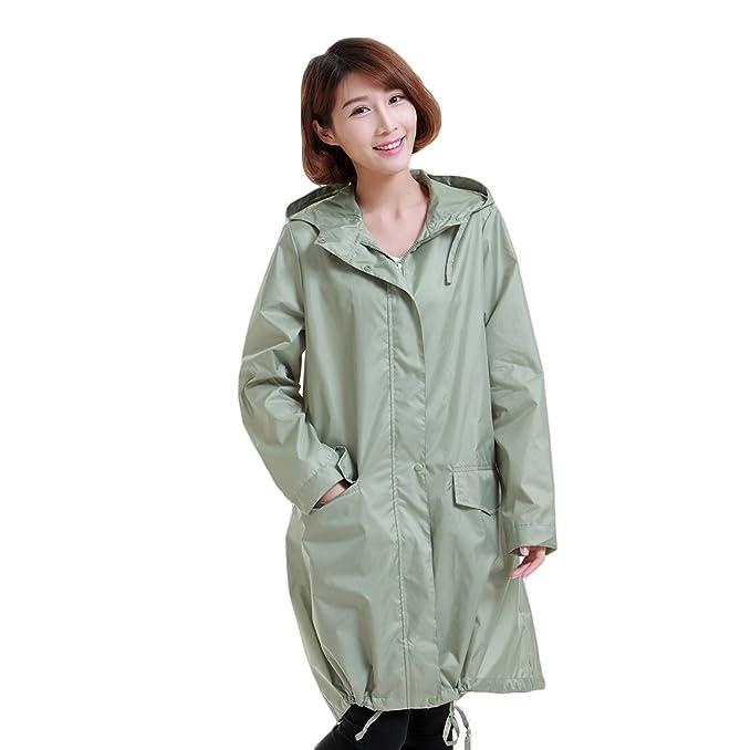 Amazon.com: Mewow Daily chaqueta para lluvia con capucha ...