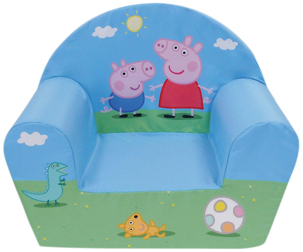 FUN HOUSE Peppa Pig Poltrona Club per bambino, Custodia poliestere/schiuma polyether, 52x 33x 42cm CIJEP 712570