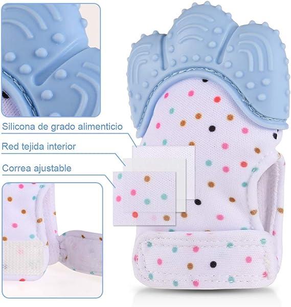 HANBIN guantes molares para beb/és silicona para la dentici/ón del beb/é guantes para la dentici/ón Nuevo Orange