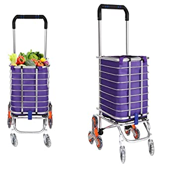 Ordinaire Portable Folding Stair Shopping Cart, Heavy Duty Rolling Grocery Climber  Carts, Light Weight Trolley